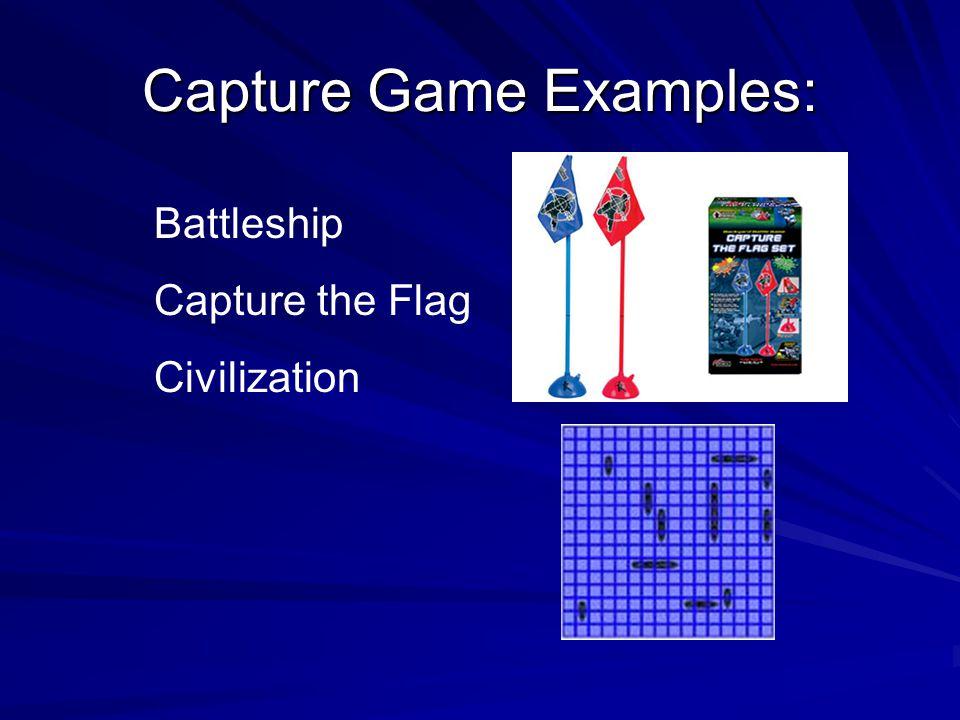 Capture Game Examples: Battleship Capture the Flag Civilization