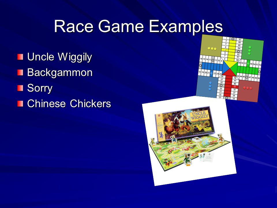 Race Game Examples Uncle Wiggily BackgammonSorry Chinese Chickers