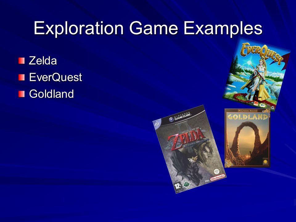 Exploration Game Examples ZeldaEverQuestGoldland