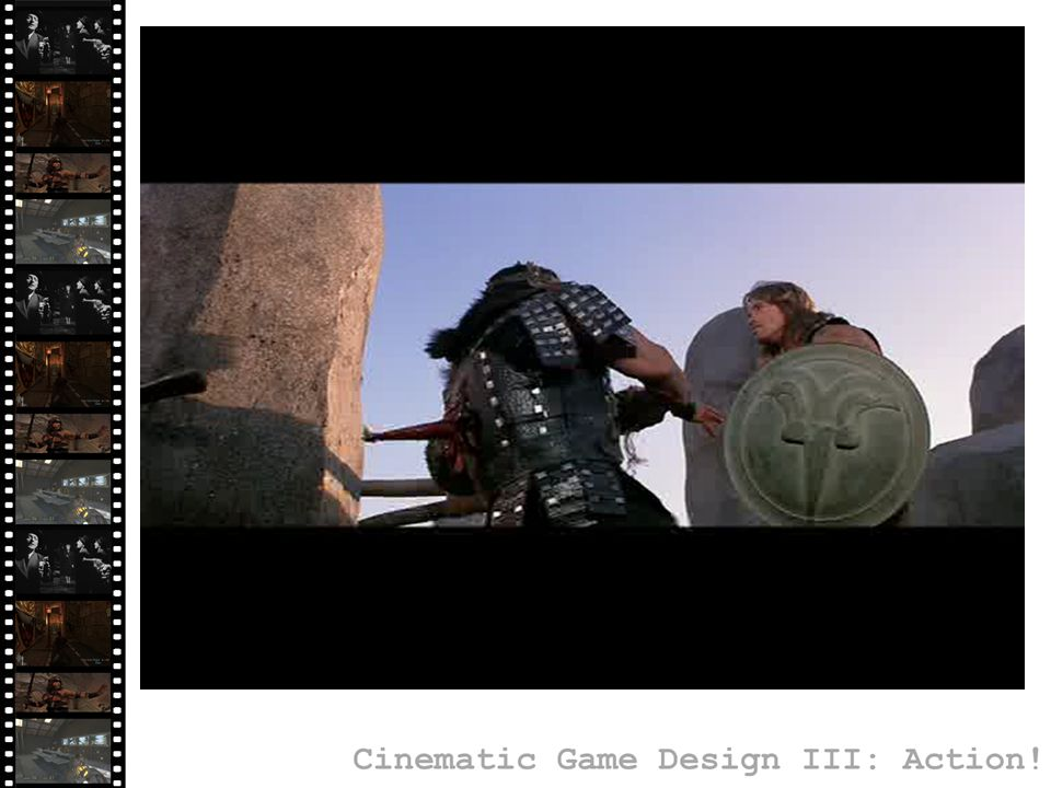 Starting a Fight: Gameplay Application A new enemy is positioned in a highly visible but unreachable position Immediate understanding of how the creature behaves Enemy gets to wreak havoc before player can do anything about it Companion NPC provides reinforcement Example from: Half-Life 2: Episode 2