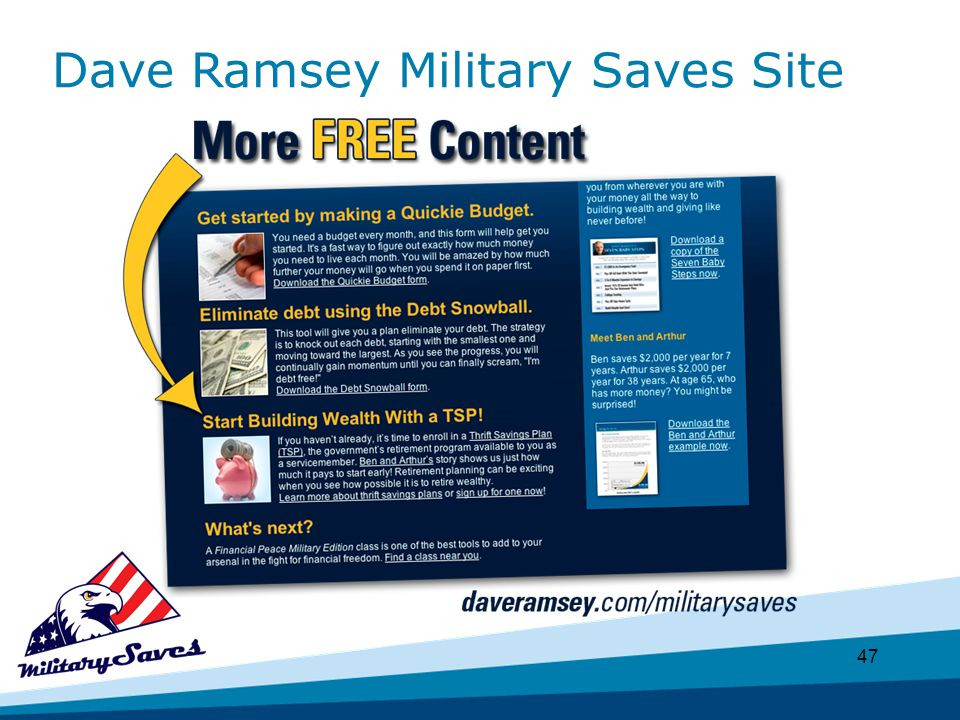 47 Dave Ramsey Military Saves Site