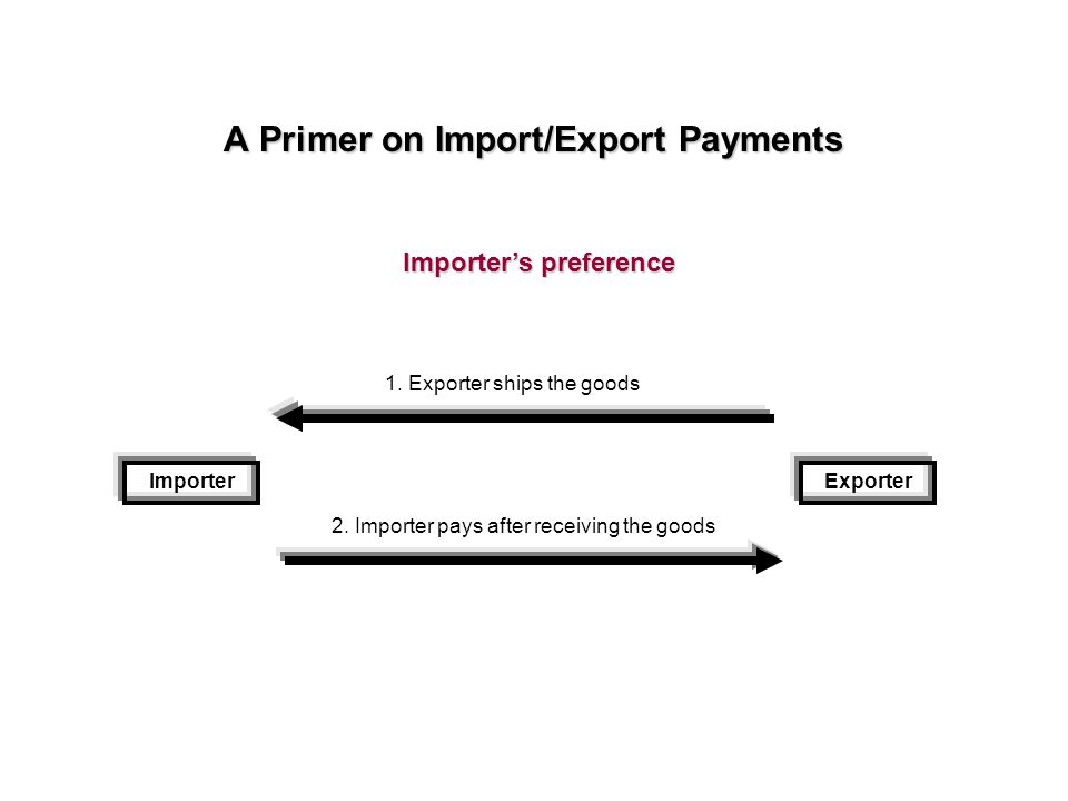 A Primer on Import/Export Payments ImporterExporter 1.