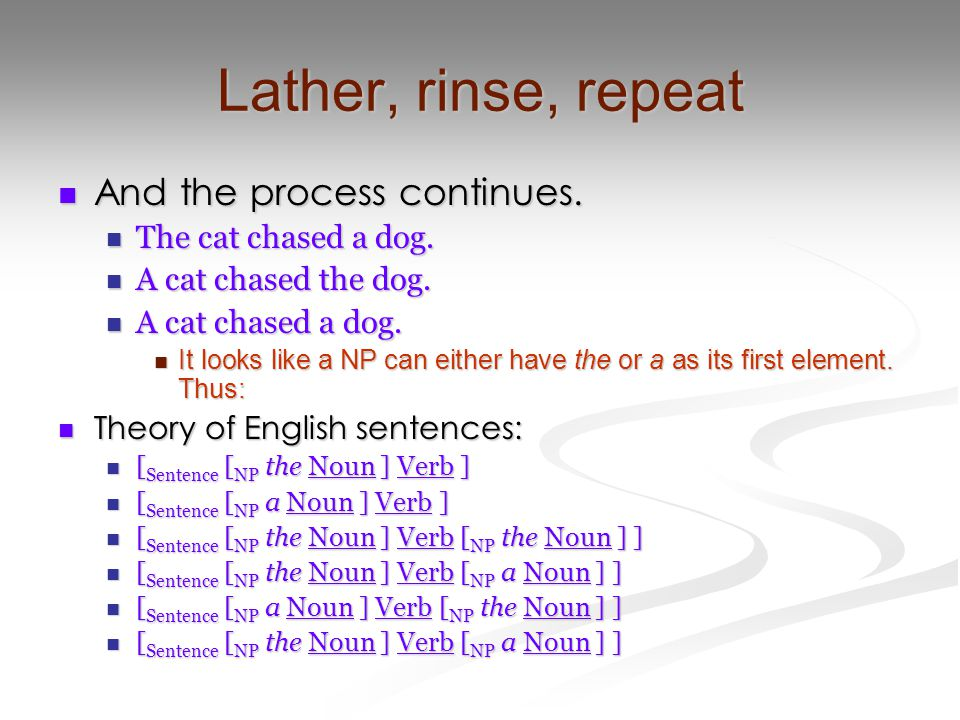 I-language We are studying the system behind one person's pattern of intuitions.