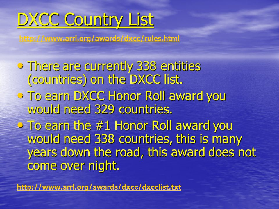 Separate Band Awards And it doesn't end with DXCC and 5BDXCC…… And it doesn't end with DXCC and 5BDXCC…… After you have done all of that you can start tallying up all of those countries for Separate Band Awards to see how many you have worked on 160, 80, 40, etc.