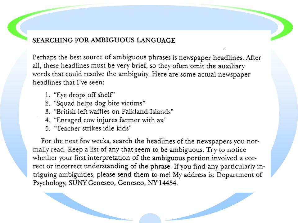 Ambiguous Language Examples