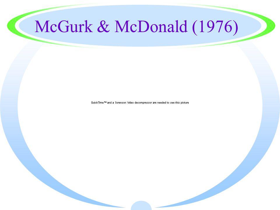 McGurk & McDonald (1976)