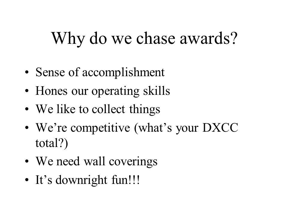 Why do we chase awards.