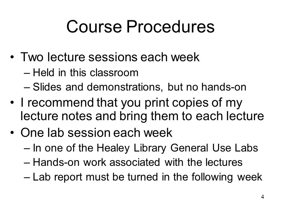 5 Homework Assignments Reading for this class: L&C 1.1, App A Reading for next class: L&C App B –I will briefly review this material next class –I assume that you are already familiar with the Java programming language –You are responsible for it in homework or exams –If you are not familiar with it, please see me.