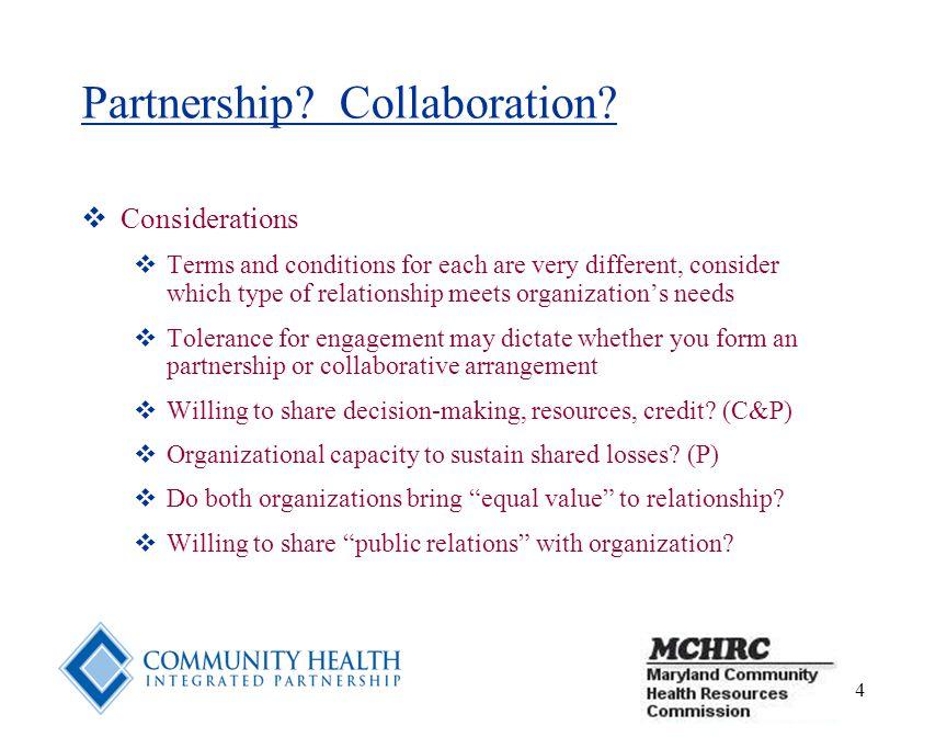 4 Partnership. Collaboration.