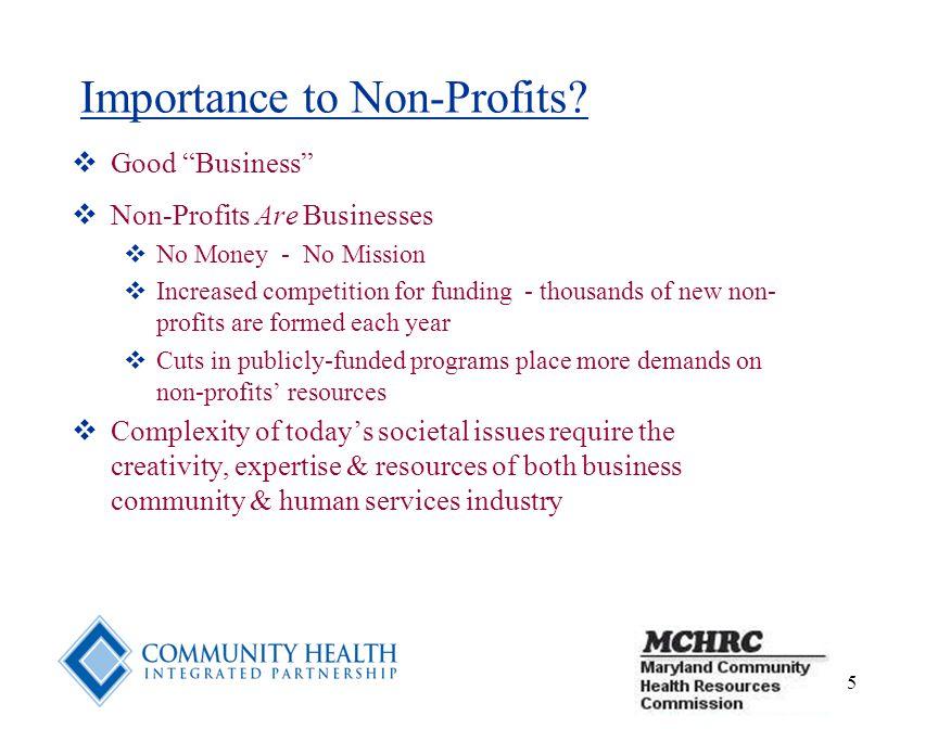 5 Importance to Non-Profits.