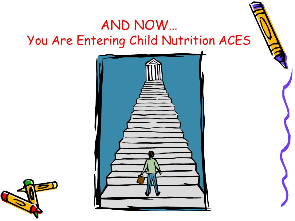 AND NOW… You Are Entering Child Nutrition ACES