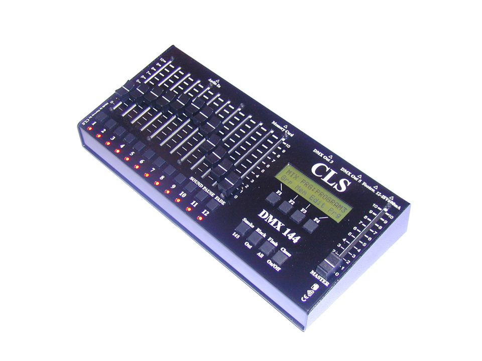 TIPS: If you don't know which DMX number your lights are using, just look at the lamps when you move the master fader.