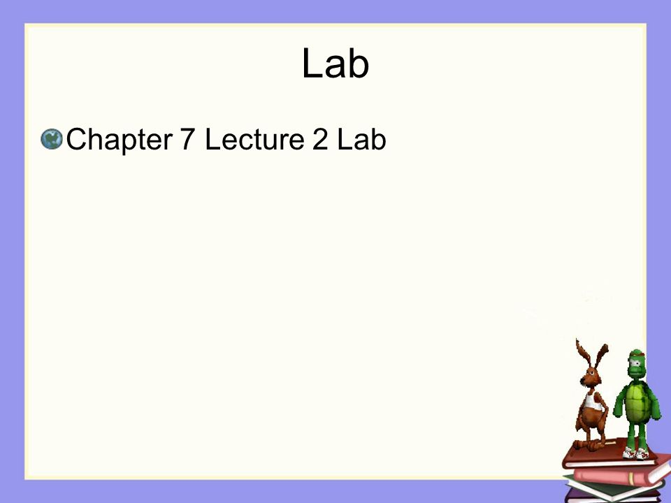 Lab Chapter 7 Lecture 2 Lab