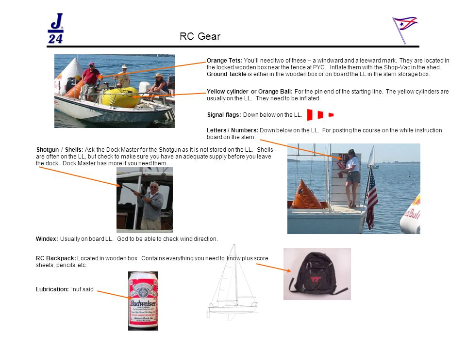 RC Gear Orange Tets: You'll need two of these – a windward and a leeward mark.