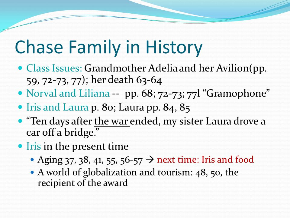 Chase Family in History Class Issues: Grandmother Adelia and her Avilion(pp.
