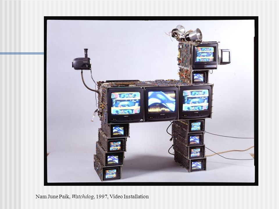 Nam June Paik, Watchdog, 1997, Video Installation