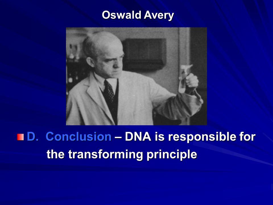 Oswald Avery Oswald Avery D.