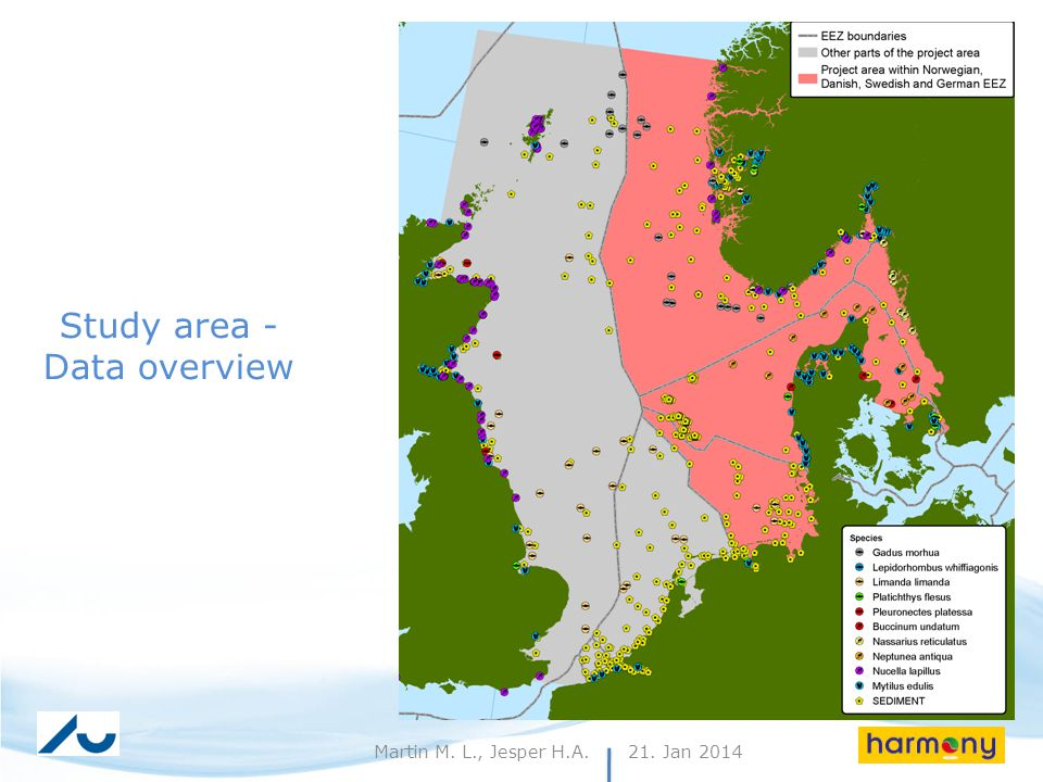 21. Jan 20143Martin M. L., Jesper H.A. Study area - Data overview