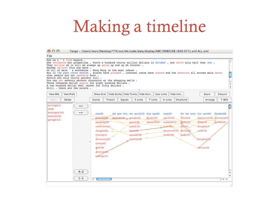 Making a timeline