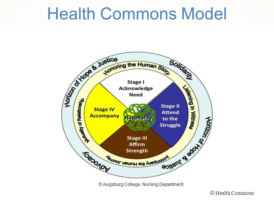 Health Commons Model © Augsburg College, Nursing Department © Health Commons