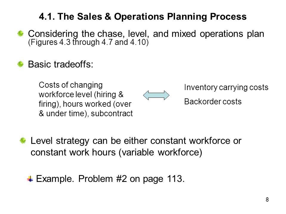 9 Figure 4.5 Chase Plan explanations In October: 1.Sales=$30 per unit.