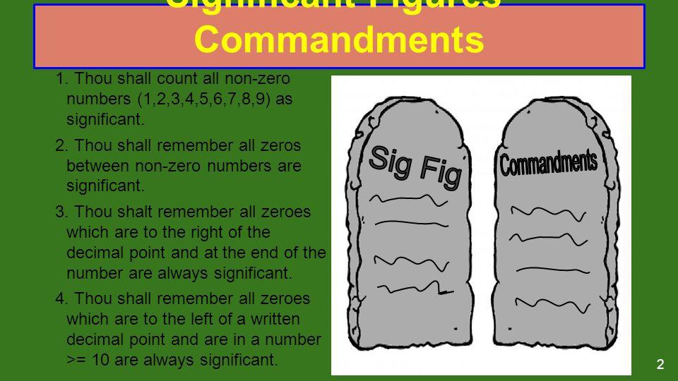 Significant Figures' Commandments 1.