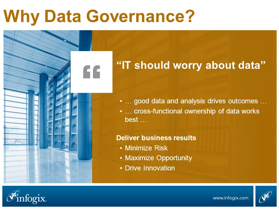 Why Data Governance.