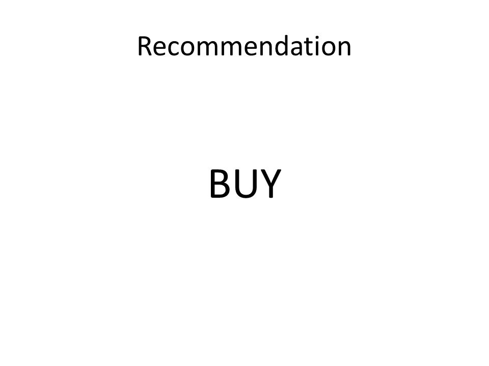 Recommendation BUY