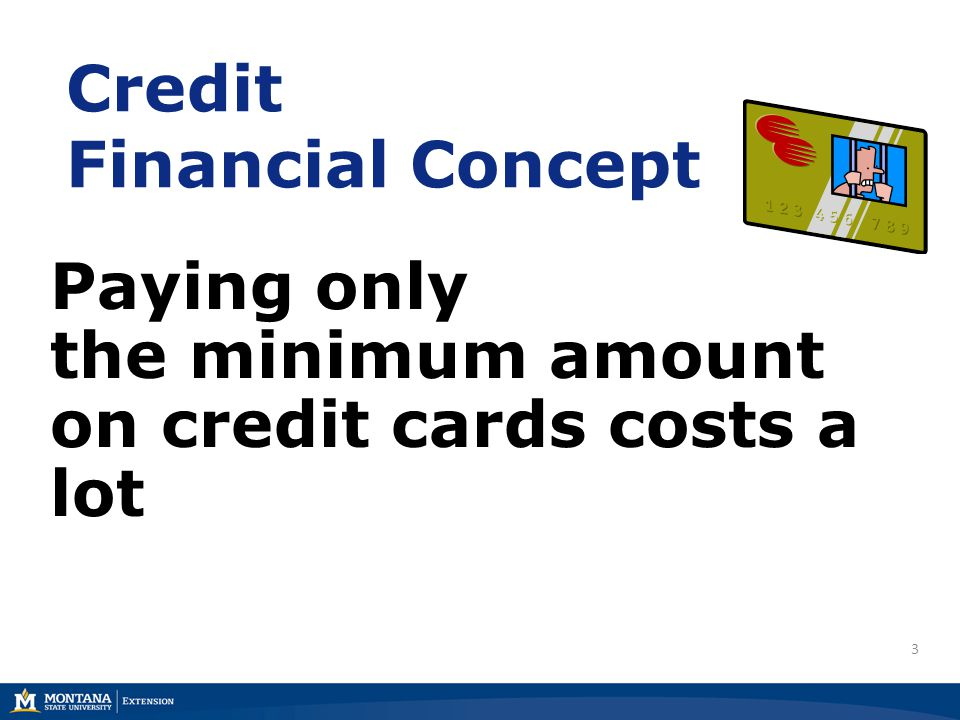 Credit Financial Concept Paying only the minimum amount on credit cards costs a lot 3