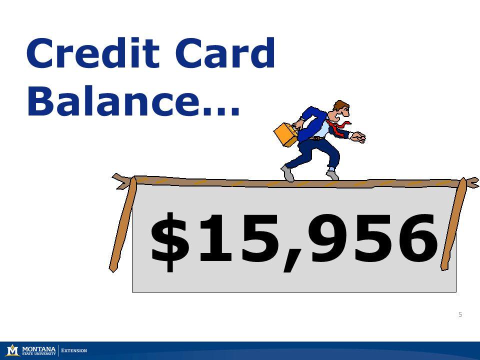 5 Credit Card Balance… $15,956