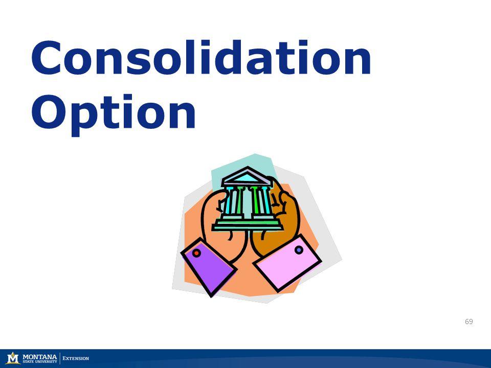 69 Consolidation Option