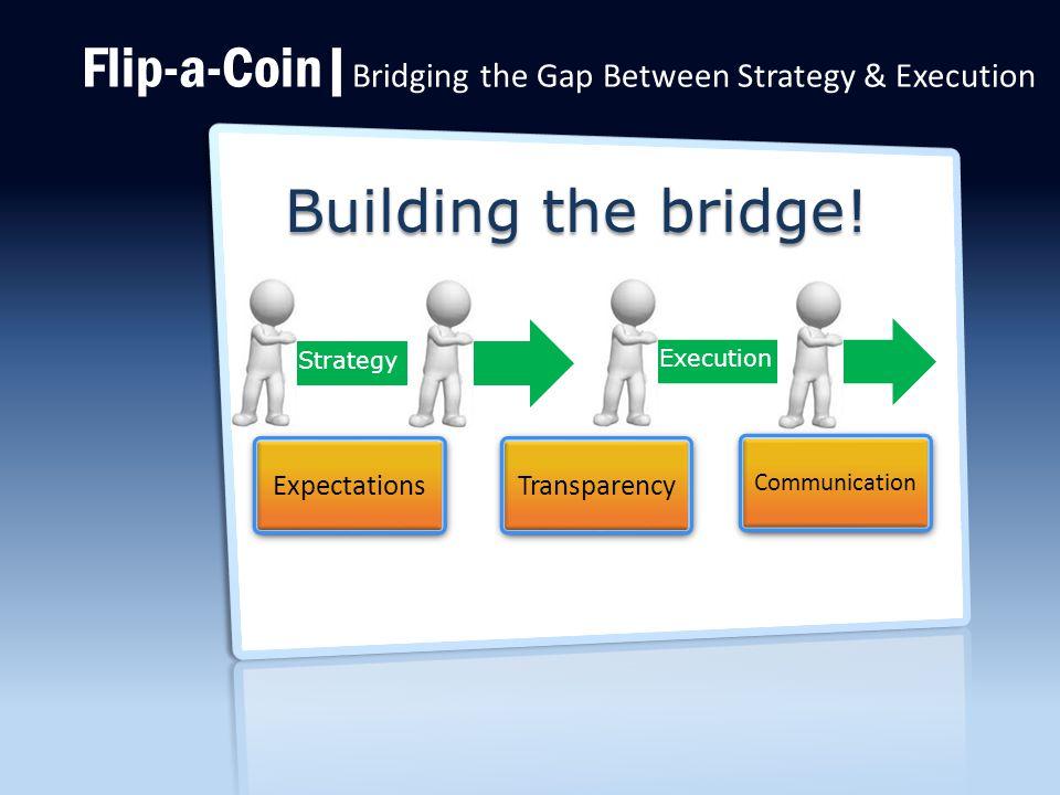 Flip-a-Coin| Bridging the Gap Between Strategy & Execution Building the bridge.