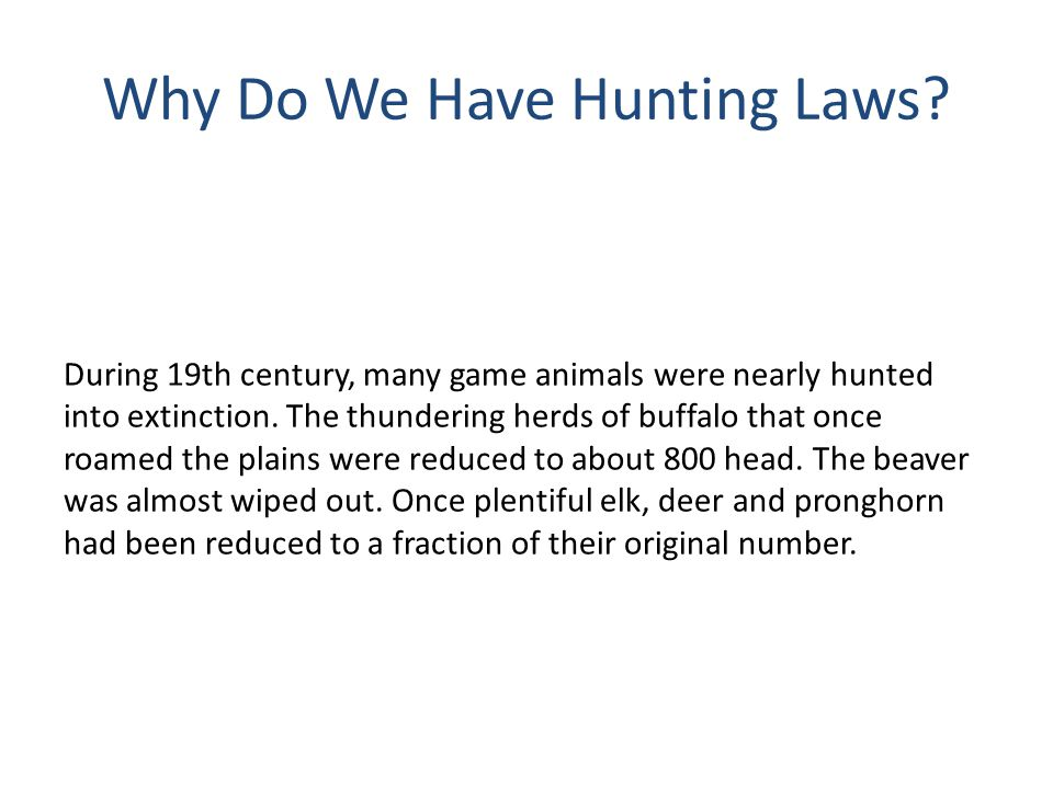 Six Stages of Hunter Development (cont.) Method Stage Process of hunting becomes the focus.