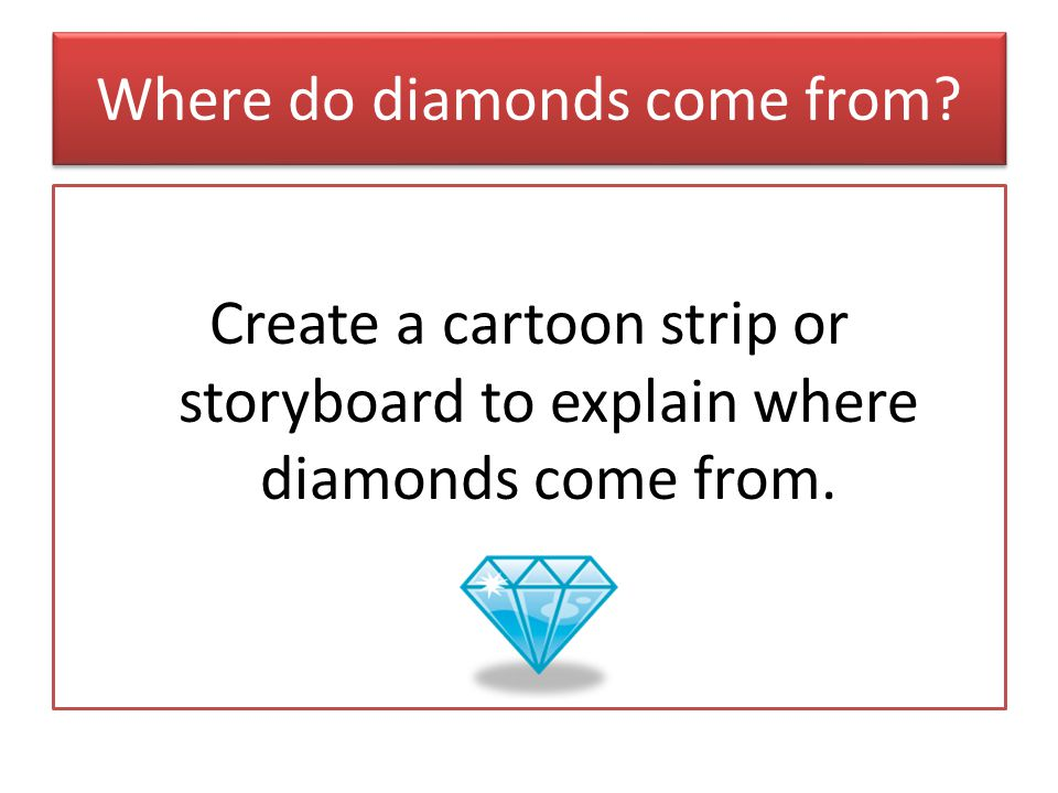 Where do diamonds come from.