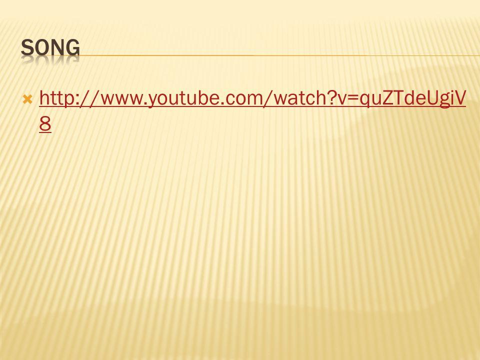  http://www.youtube.com/watch?v=quZTdeUgiV 8 http://www.youtube.com/watch?v=quZTdeUgiV 8