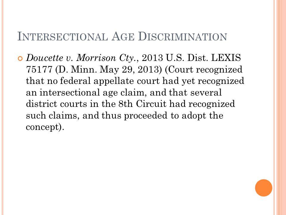 Doucette v. Morrison Cty., 2013 U.S. Dist. LEXIS 75177 (D.