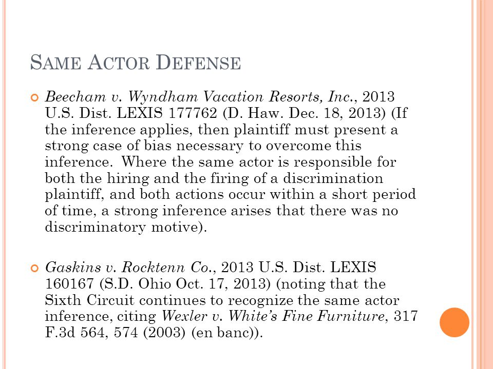 A GE OF D ECISIONMAKER AND / OR C OMPETITORS A S C OMPARED TO P LAINTIFF