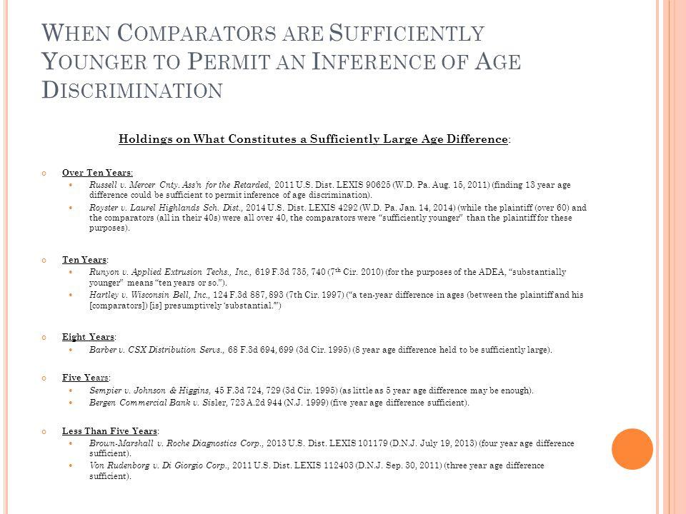 RIF S AND C OMPARATORS ' S IMILARITY TO P LAINTIFF