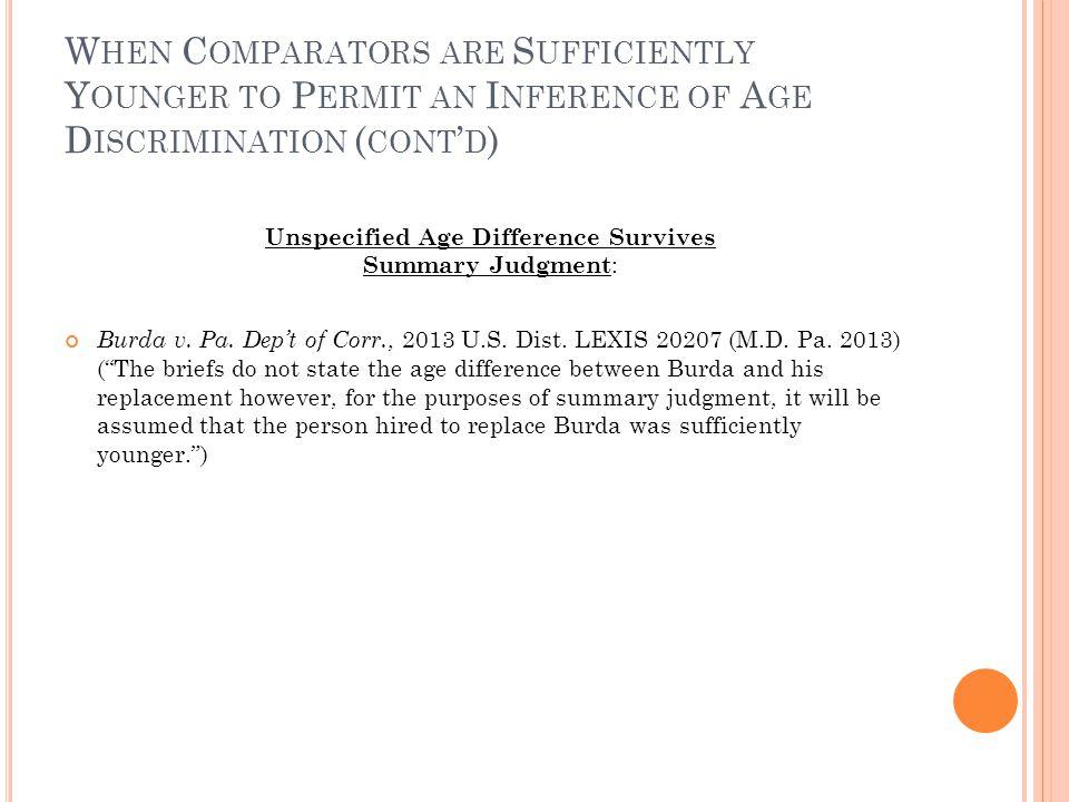 A GE VS. C OMPENSATION