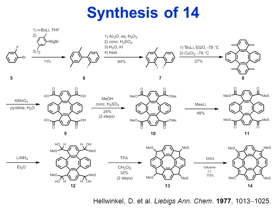 Synthesis of 14 Hellwinkel, D. et al. Liebigs Ann. Chem. 1977, 1013  1025.