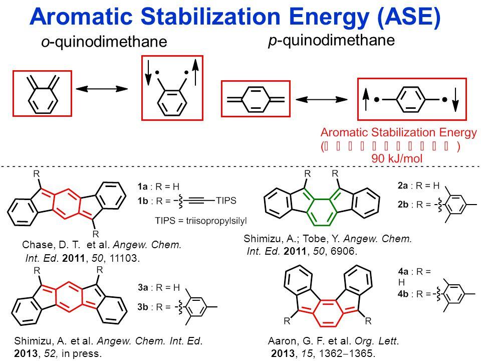 o-quinodimethane p-quinodimethane Chase, D. T. et al. Angew. Chem. Int. Ed. 2011, 50, 11103. Shimizu, A.; Tobe, Y. Angew. Chem. Int. Ed. 2011, 50, 690