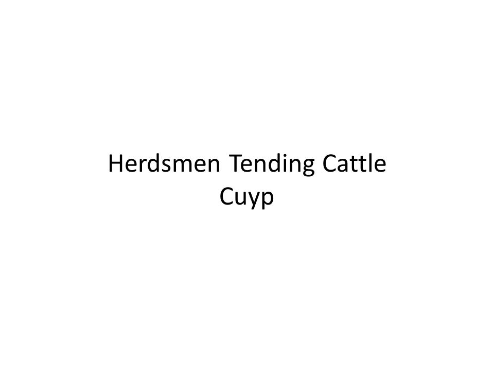 Herdsmen Tending Cattle Cuyp