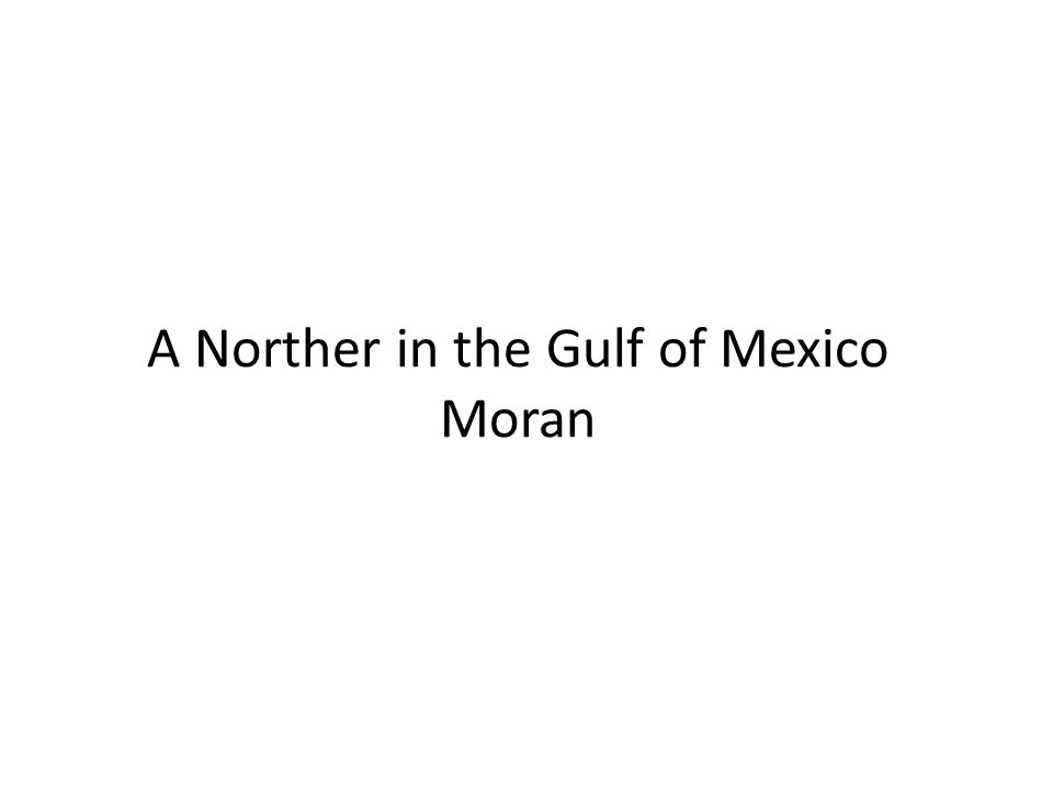 A Norther in the Gulf of Mexico Moran