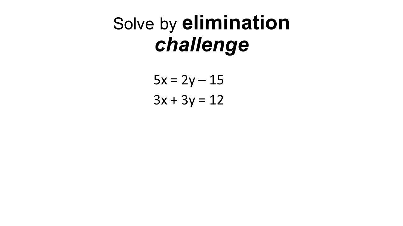 Solve by elimination 2y = 4x 10x + 3y = 8
