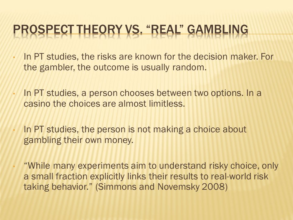 Might conclude that teaching gamblers about the laws of probability and small samples would reduce these irrational behaviours, but not the case.