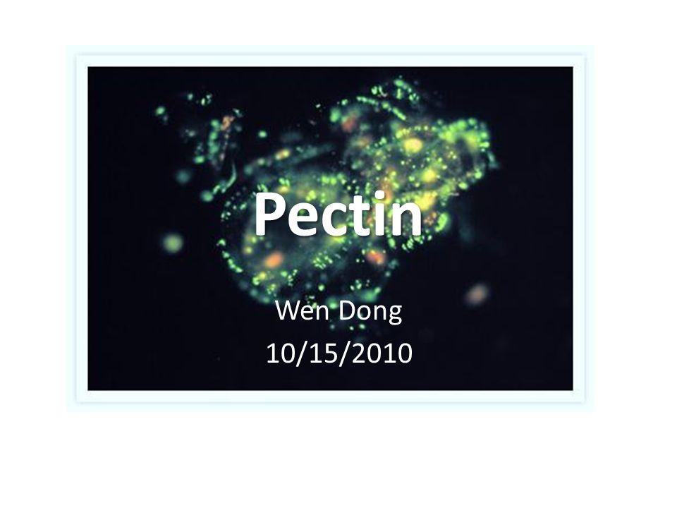 Pectin Wen Dong 10/15/2010