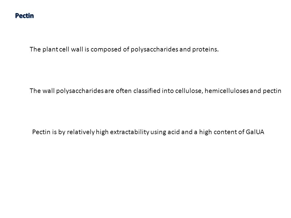 The plant cell wall is composed of polysaccharides and proteins.