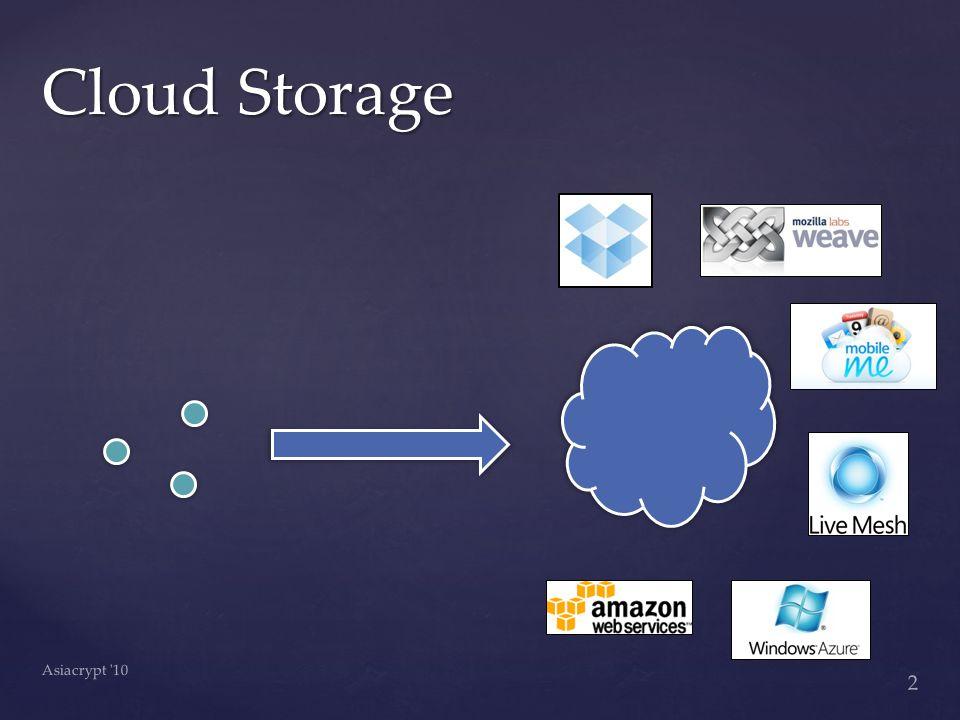 Cloud Storage Asiacrypt 10 2