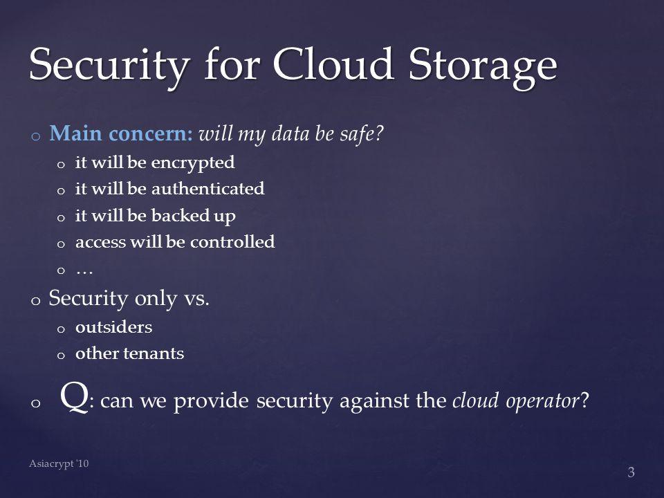 o o Main concern: will my data be safe.