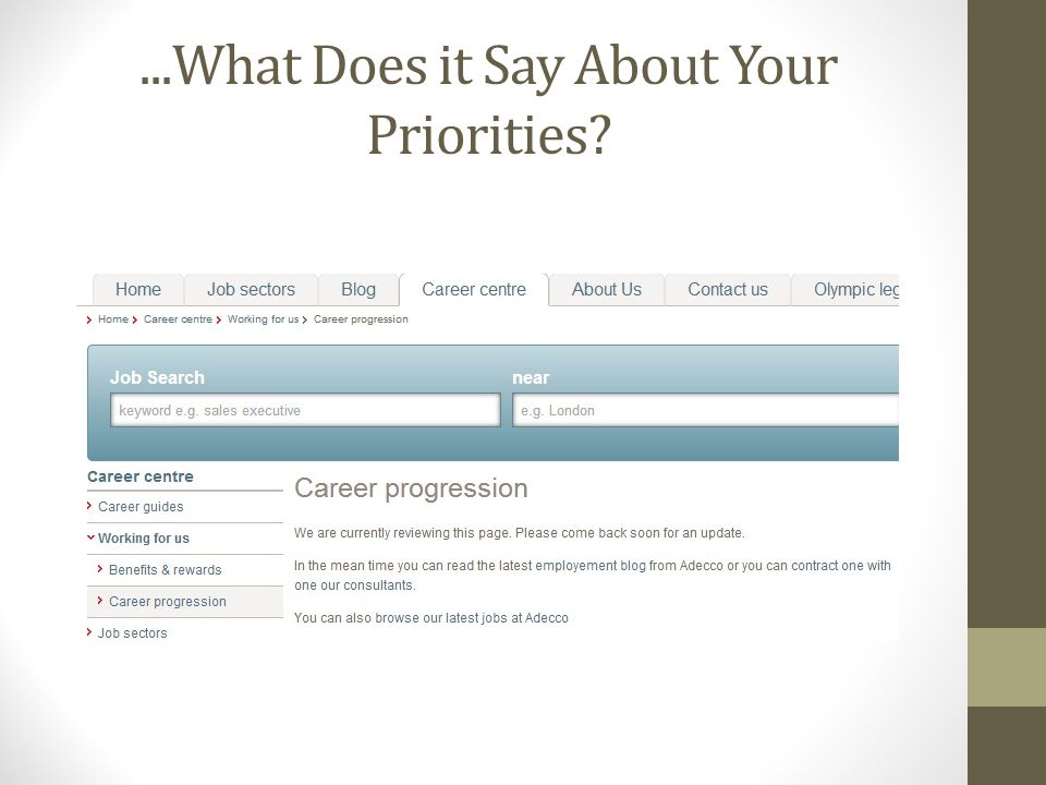 ...What Does it Say About Your Priorities?